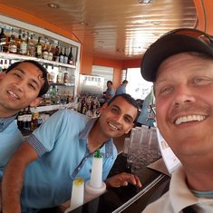 Larry and Mohamed - Pool Bar bartenders.  Great Guys!