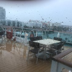 Outside deck - rainy day in Tampa