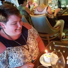 The sad frozen birthday cake