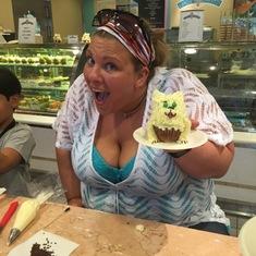 Cupcake class- Made a doggie