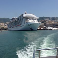 In the port of Genoa