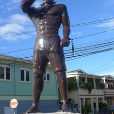 Roseau, Dominica - Honoring un-named enslaved Africans: the backs island economies were built on