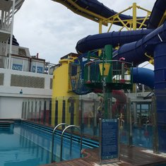 One of two water slides!