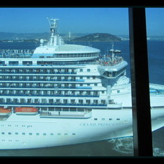 San Francisco, California - View of Grand Princess from the Crown Princess
