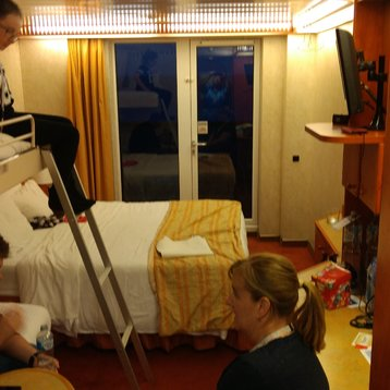Private Extended Balcony Stateroom on Carnival Spirit
