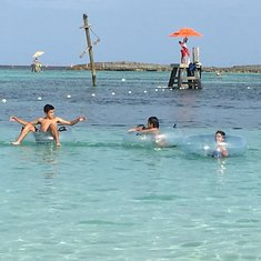 Fun at Castaway Cay.