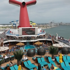 Pool deck on Carnival Sunshine