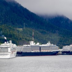 Port of Ketchikan with 4 ships in port