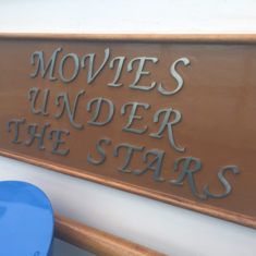Movies Under The Stars on Ruby Princess