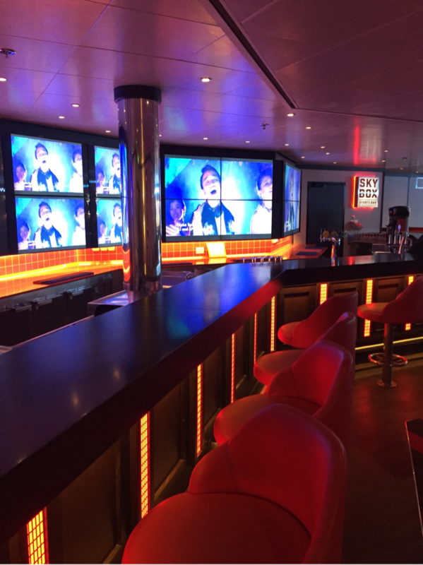 skybox sports bar - Carnival Spirit