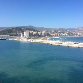 Malaga, Spain. View from balcony on the Oosterdam (HAL)