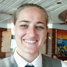 Alexanandra, waitress in the Schooner Lounge