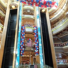 The Fourth of July celebration onboard the Grandeur of the Seas.