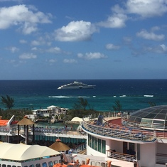 A view from Liberty while at port in Nassau.