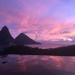 its all about st lucia twin pitons