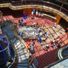 Grand Spectrum Plaza and Atrium Bar on Carnival Ecstasy