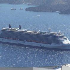 Reflection in Santorini