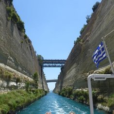Cruising Corinth Canal