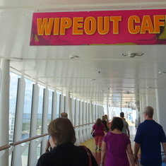 Wipeout Cafe Sign