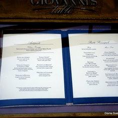 Giovanni's Table Menu