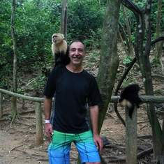 Mahogany Bay, Roatan, Bay Islands, Honduras - Quit monkeying around already.