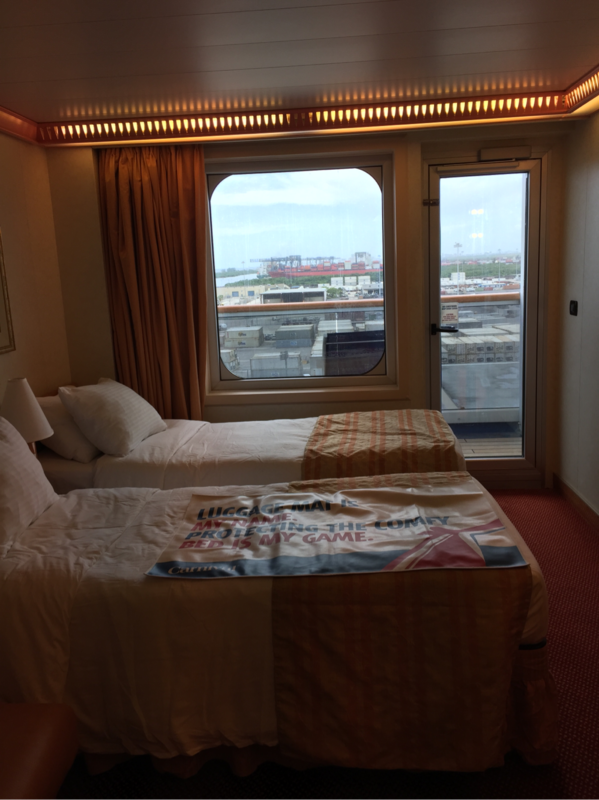 Balcony Cabin 9261 On Carnival Conquest Category 8d