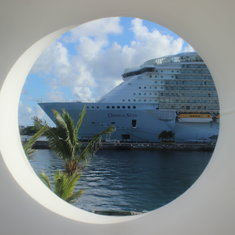 Cabin view of another RC ship from our little porthole.