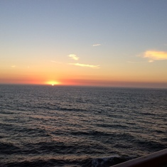 Sunset at sea!!!
