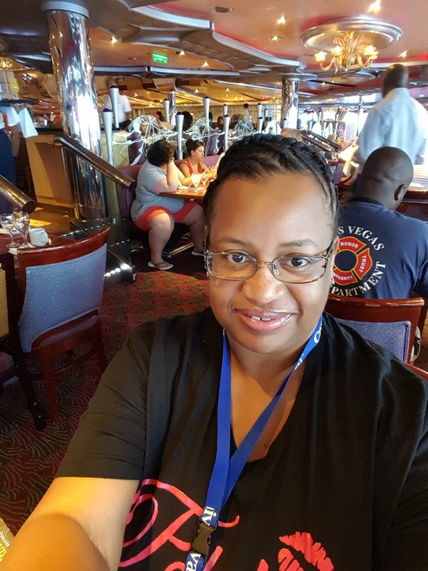 At brunch celebrating my birthday! - Carnival Liberty