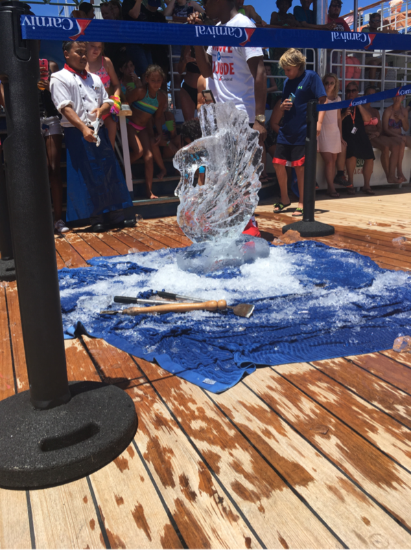 ice carving - Carnival Elation