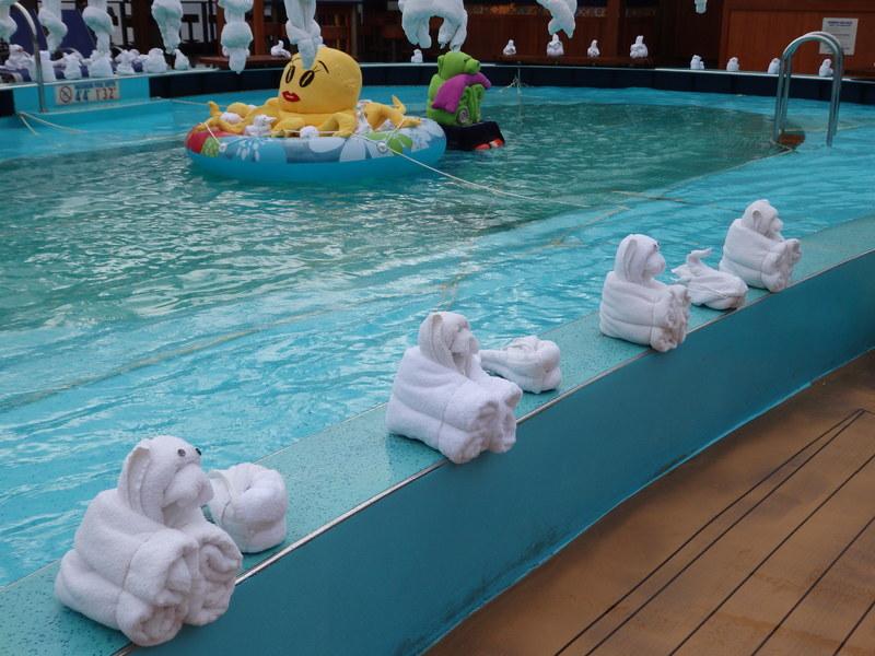 Towel animals - Carnival Pride