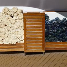 Celebrity Infinity - towels for hot and cold