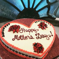 Mothers Day Cake... Never did get a taste :(