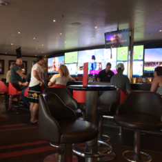 Skybox Sports Bar on Carnival Triumph