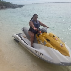 Jet skiing in the Bahamas