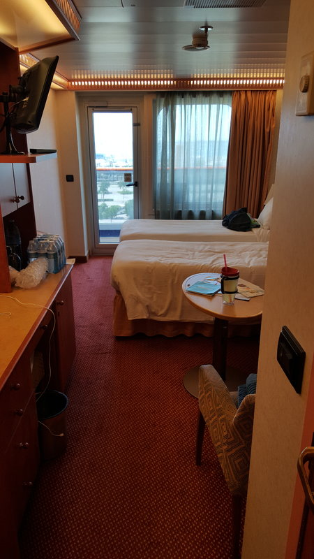 Balcony Cabin 8225 On Carnival Glory Category 8c