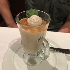 Apricot rice pudding dessert