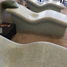 Heated lounge chairs