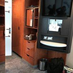 TV/closet area
