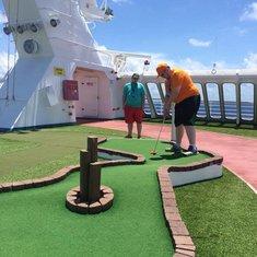 Mini Golf on Carnival Ecstasy