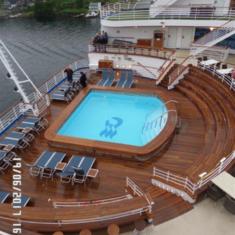 Terrace Pool on Crown Princess