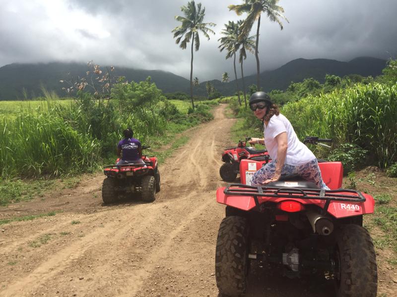 Basseterre, St. Kitts - ATV in st kitts