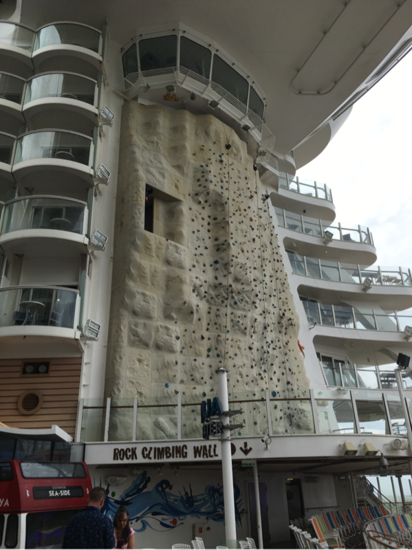 rock wall on oasis - Oasis of the Seas