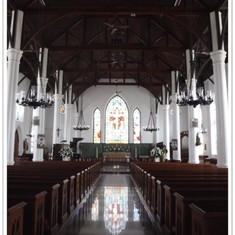 Inside of Christ Church Cathedral.  Nassau.