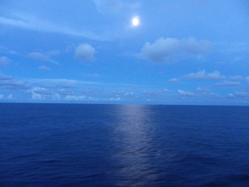 Moon after sailing from Freeport - Carnival Pride