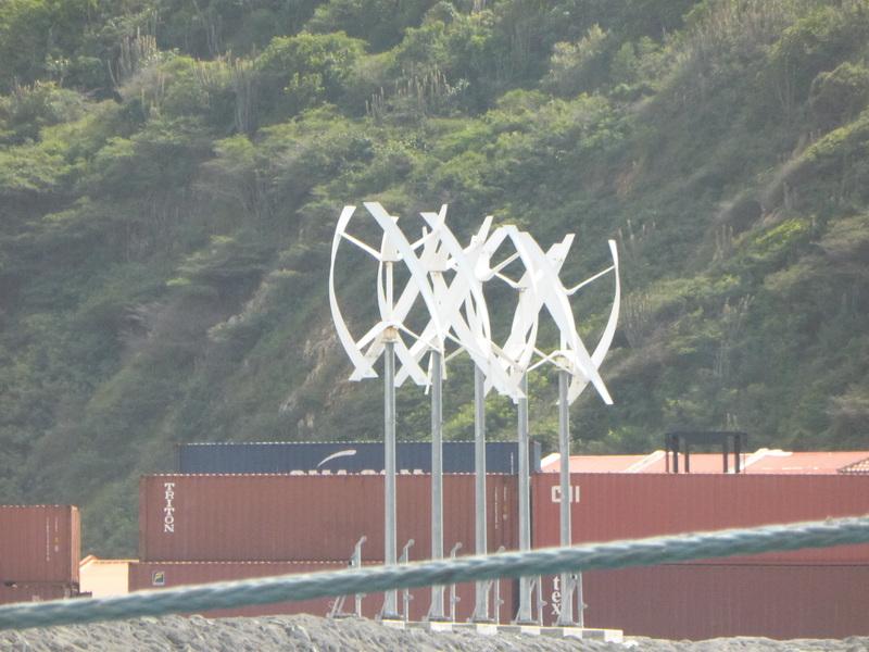 Windmills in port - Allure of the Seas