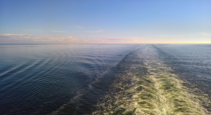 Evening wake view on Baltic - Crown Princess