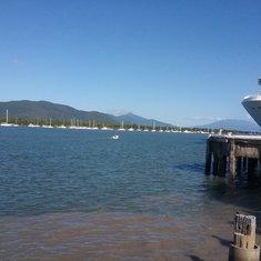 Ship docked at Cairns