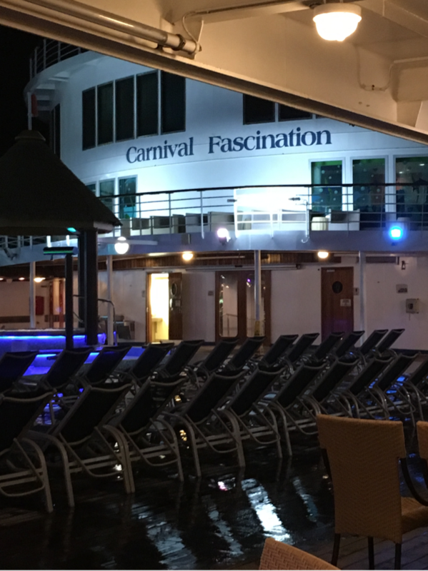 poolside late at night - Carnival Fascination