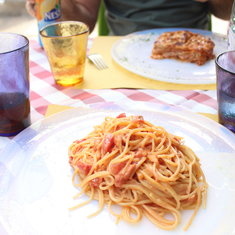 Venice, Italy - Our meal at B Restaurant alla Vecchia Pescheria in Murano.